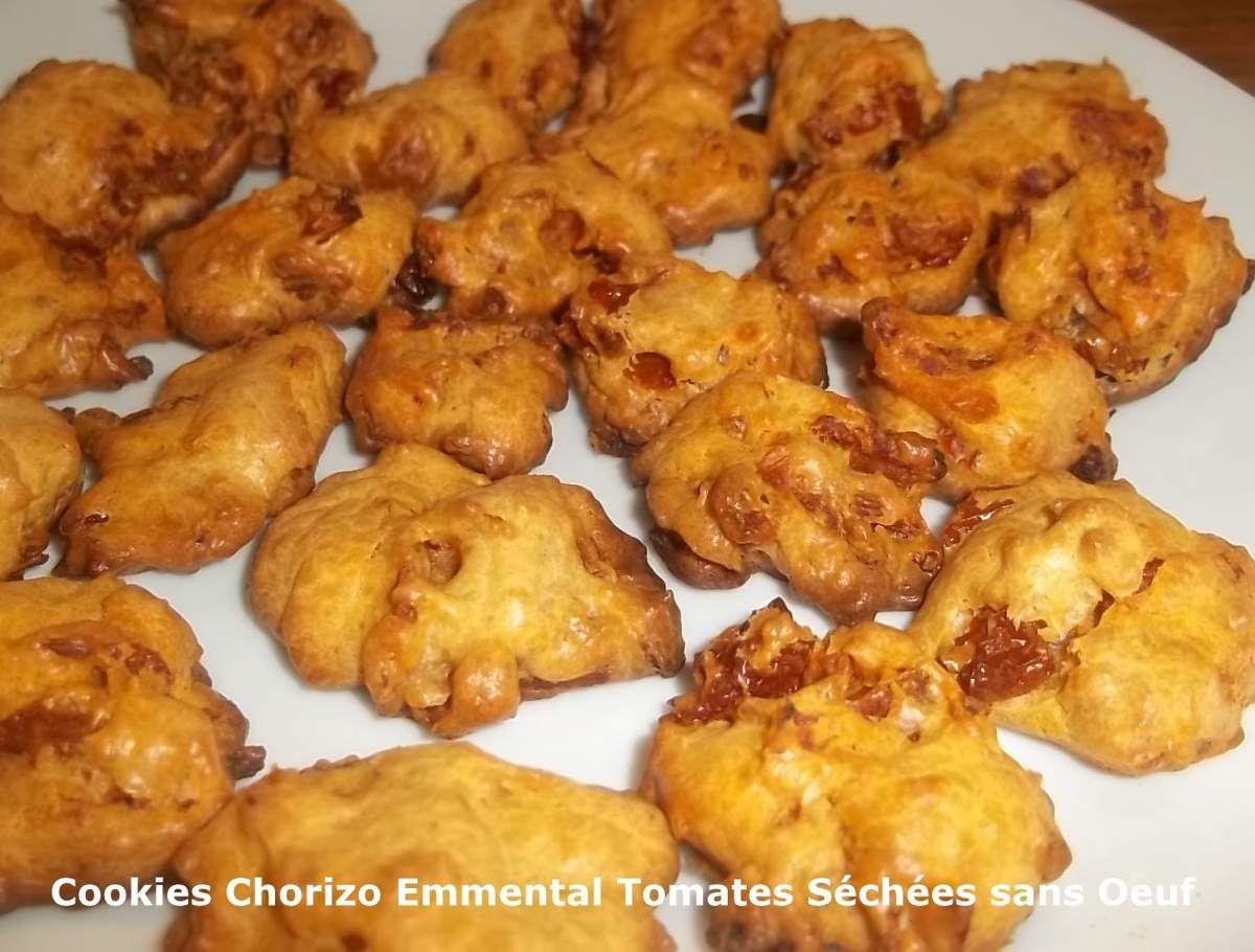 Un Tour en Cuisine #366 - Cookies Chorizo Emmental Tomates Séchées sans Oeuf