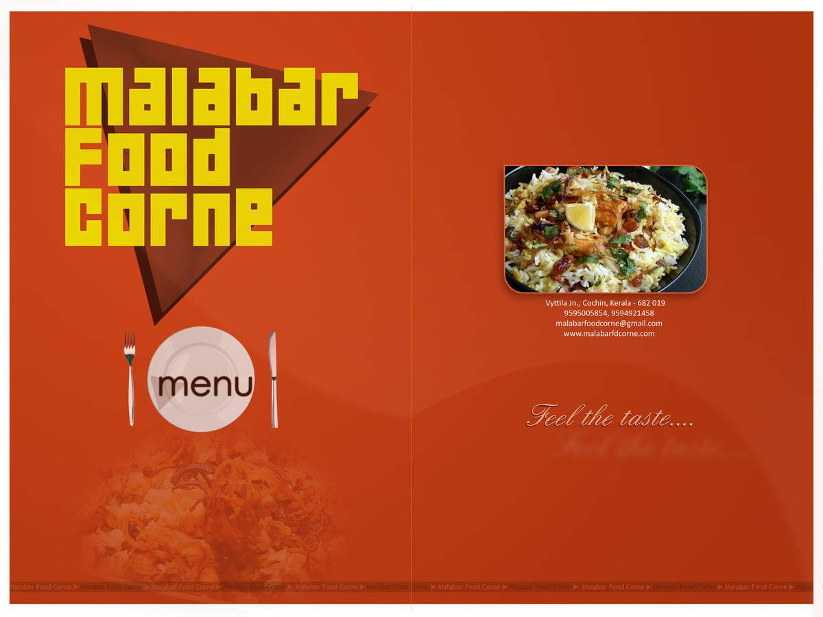 menu sample front page design portal menu sample front page
