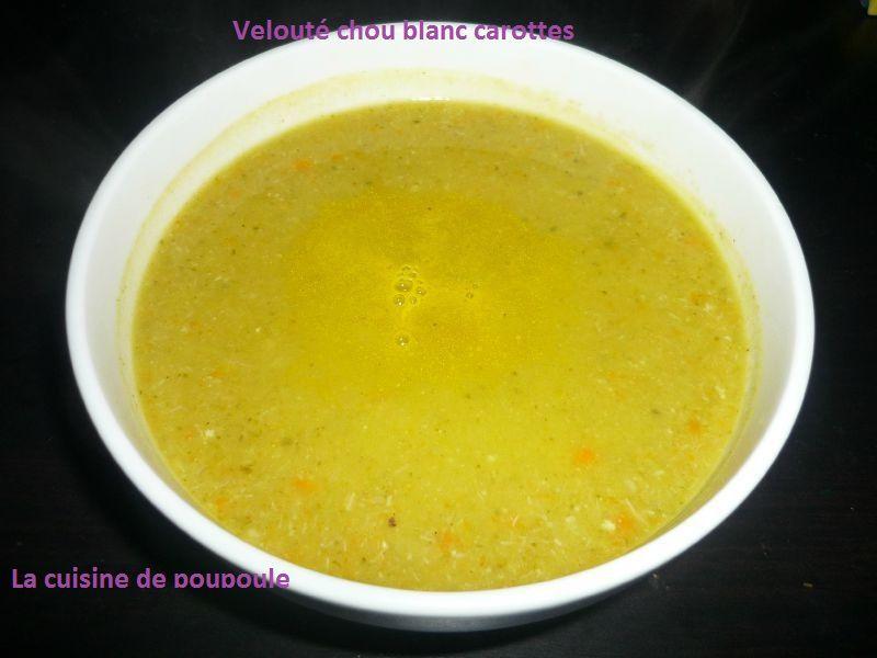 Velouté de chou blanc et carottes au thermomix