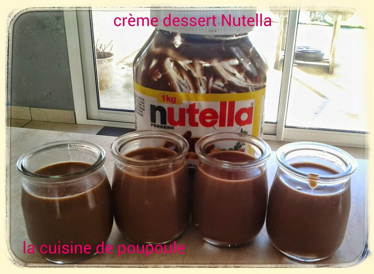 cr me dessert au nutella au thermomix la cuisine de poupoule. Black Bedroom Furniture Sets. Home Design Ideas