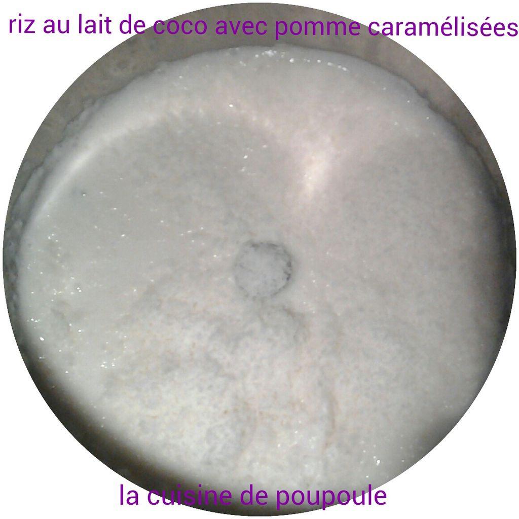 Riz au lait de coco avec pommes caram lis es au thermomix la cuisine de poupoule - Riz au lait de coco ...