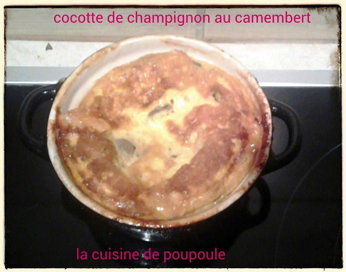 Mini cocotte de champignon des bois au camembert au thermomix