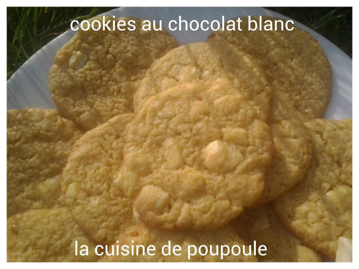Cookies au chocolat blanc au thermomix ou Kitchenaid