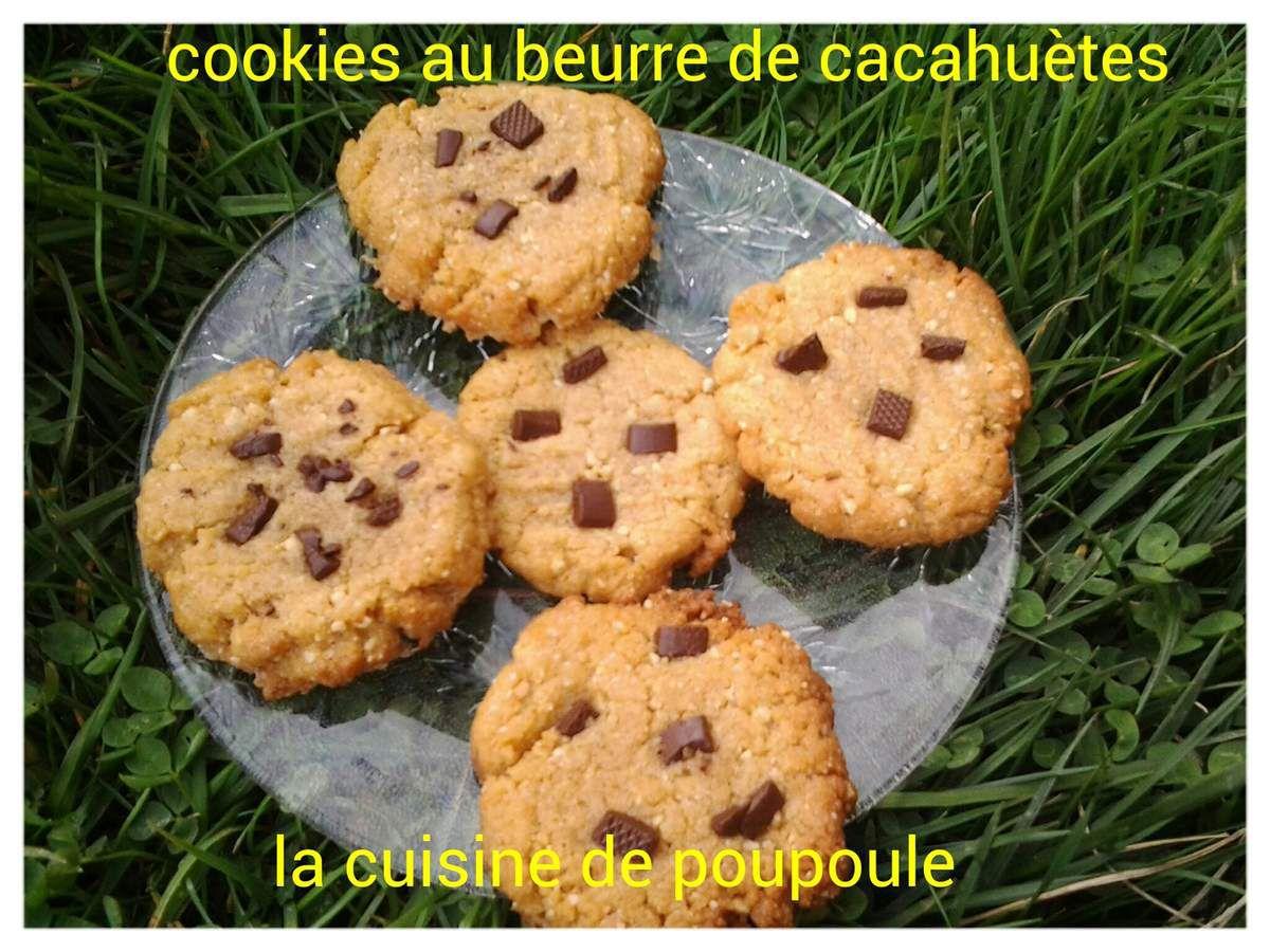 Cookies au beurre de cacahuète au thermomix ou kitchenaid