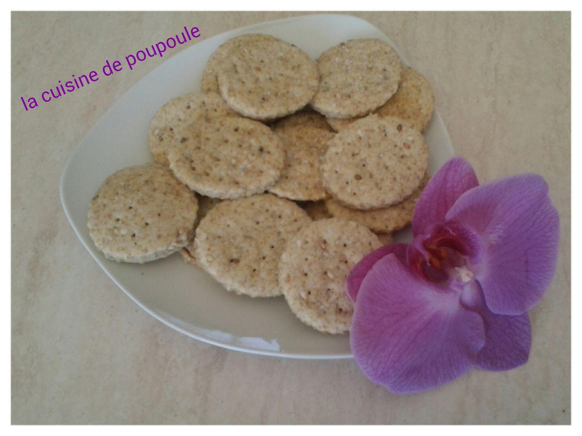 Crackers aux sésames au thermomix ou kitchenaid