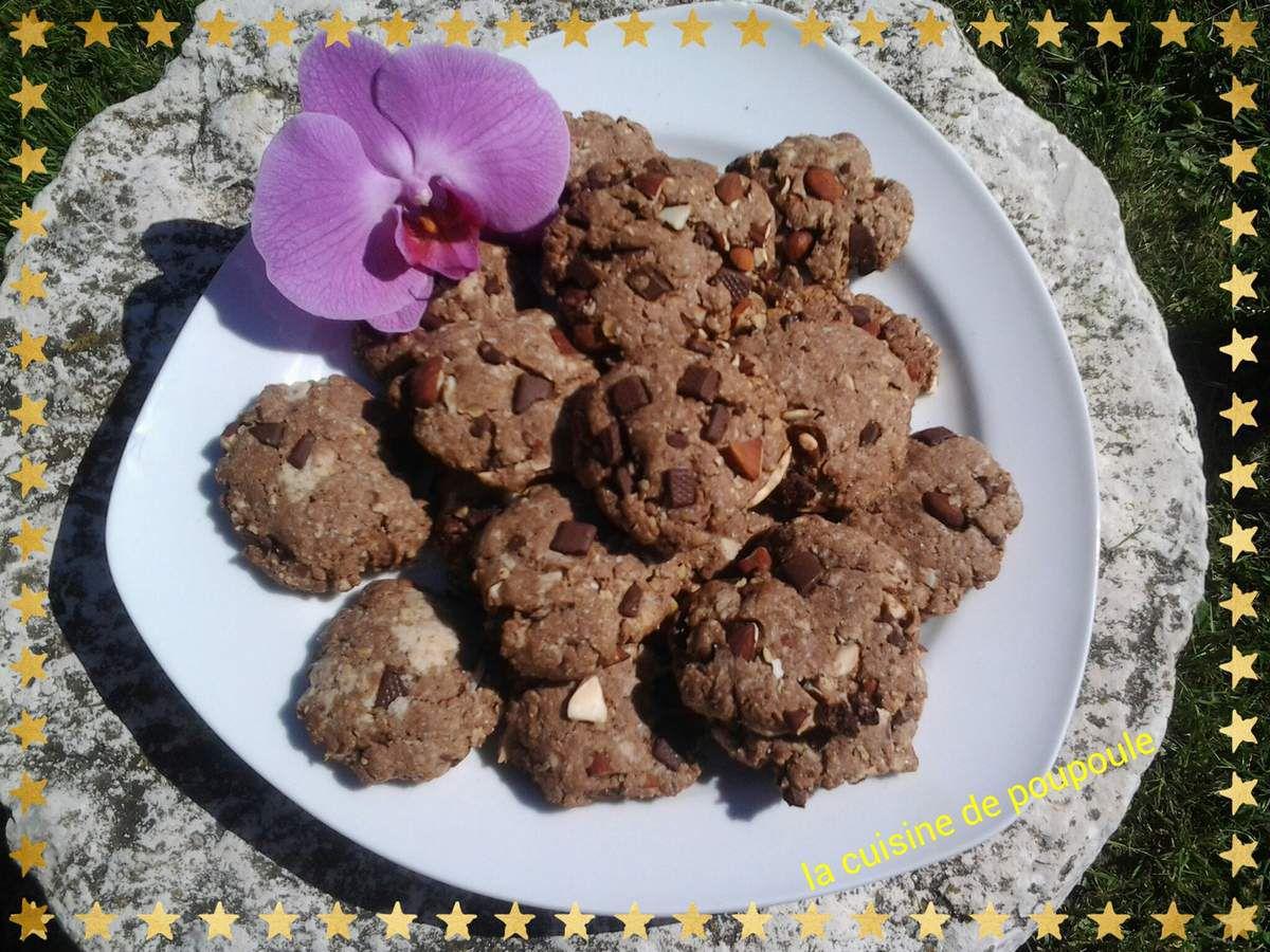 Cookies Vegan aux flocons d'avoine au thermomix ou sans