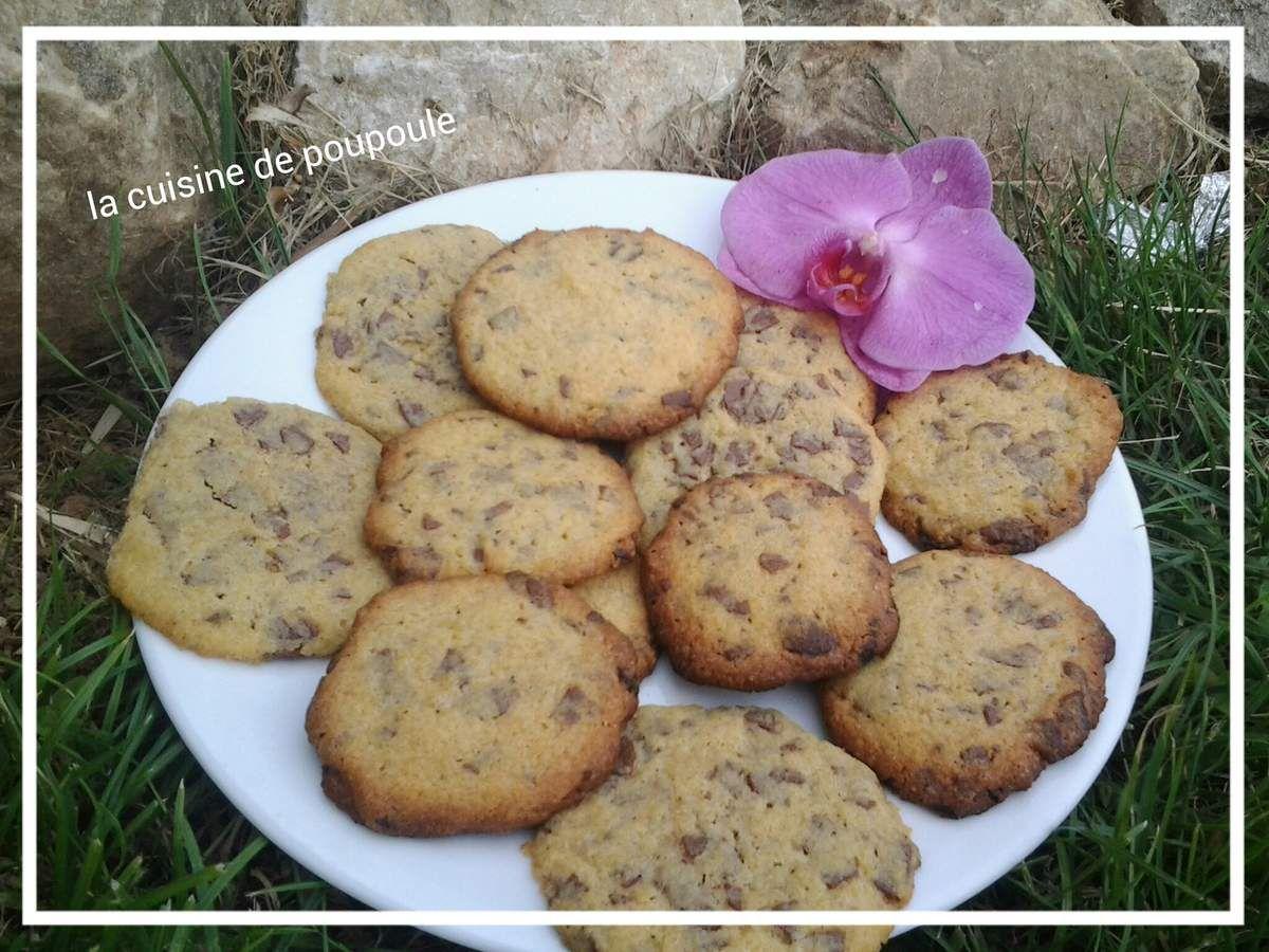 Cookies aux copeaux de chocolat au thermomix ou sans