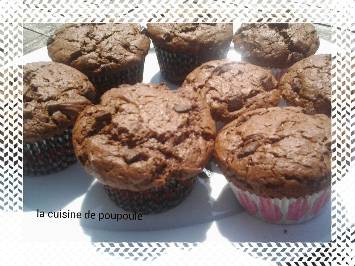 Muffins au chocolat noir et épices pour pain d'épice au thermomix ou sans