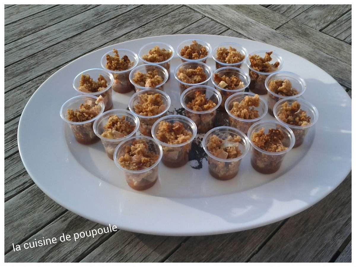 Verrines de foie gras et pain d'épices sans gluten
