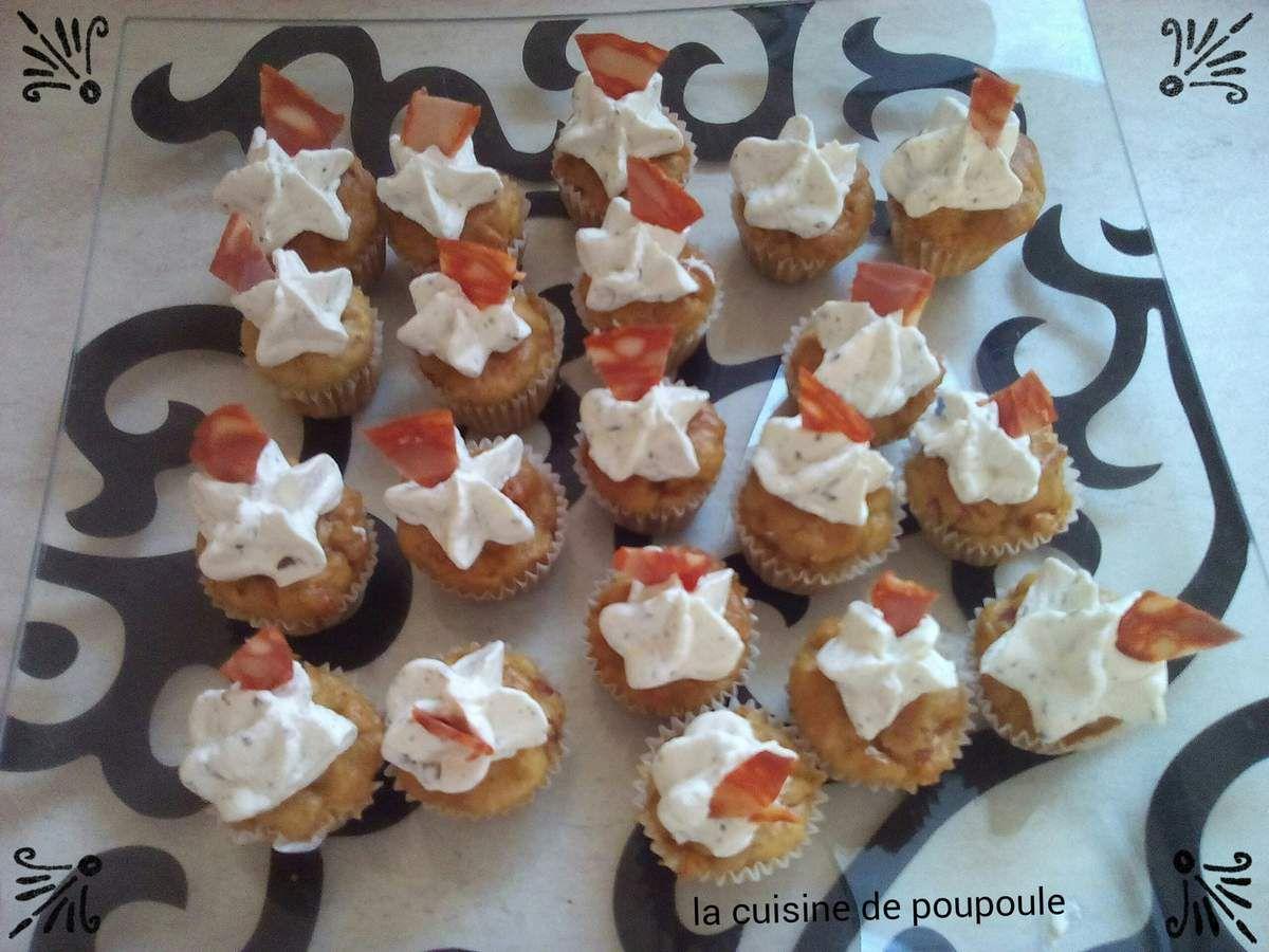 Mini cupcakes au chorizo au thermomix ou sans