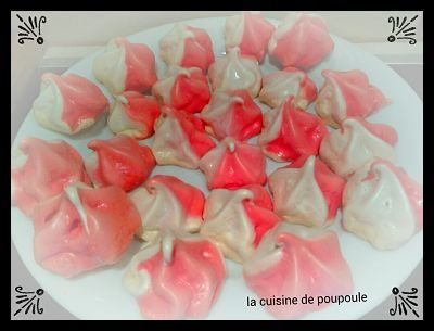 Meringue bicolore (girly) ou thermomix ou Kitchenaid