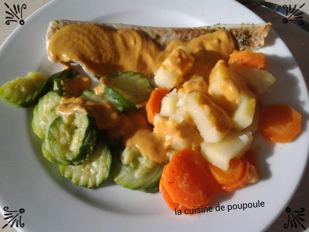 Cabillaud sauce au chorizo et ces petits légumes au thermomix ou sans