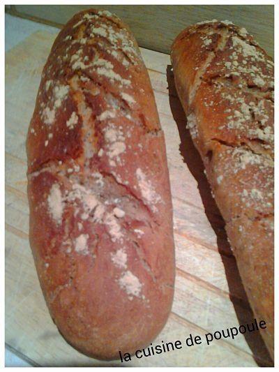 Baguette à la châtaigne au thermomix ou kitchenaid