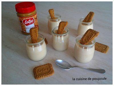 Crème dessert au spéculoos façon Danette au thermomix ou sans
