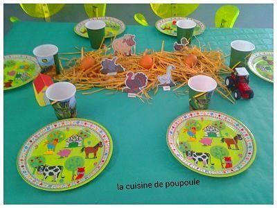 Anniversaire Sur Le Theme De La Ferme La Cuisine De Poupoule