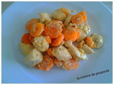 Sauté de poulet aux carottes à la sauce moutarde au thermomix ou sans