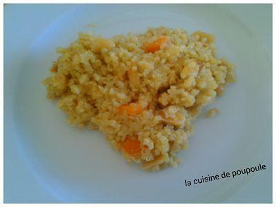 Quinoa aux carottes et cumin
