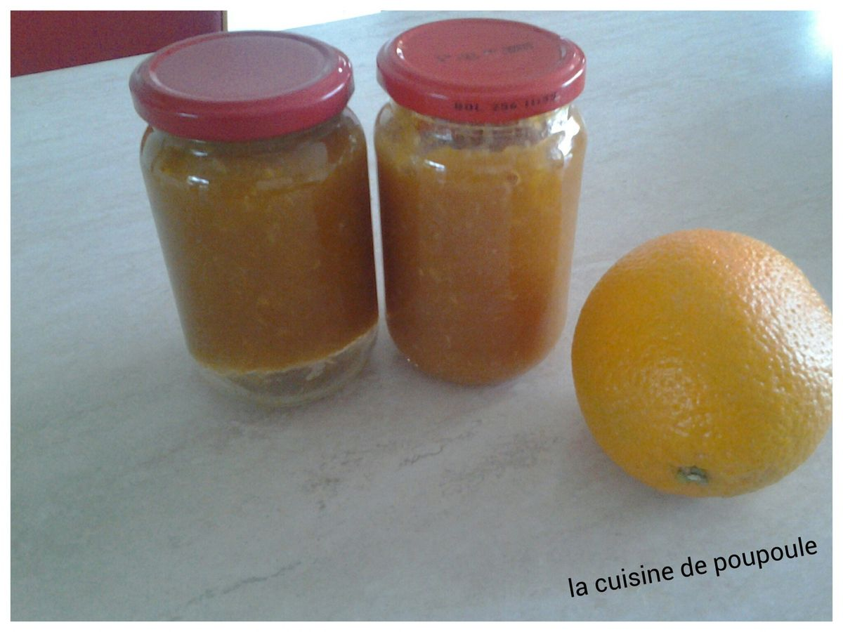 Confiture d'orange à la canelle au thermomix