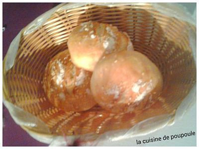 Petits pains boule au kitchenaid