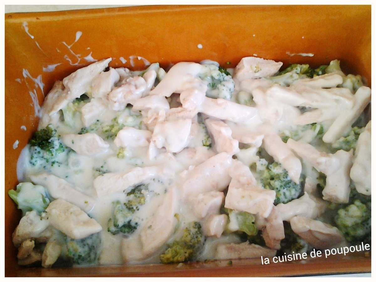 Gratin de brocolis au poulet au thermomix ou sans