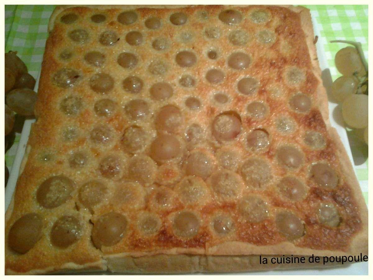 Tarte amandine aux raisins blanc au thermomix ou sans
