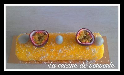 Buche de noel mangue fruits de la passion