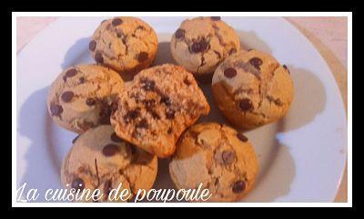 Muffins sans gluten aux pépites de chocolat au thermomix ou sans