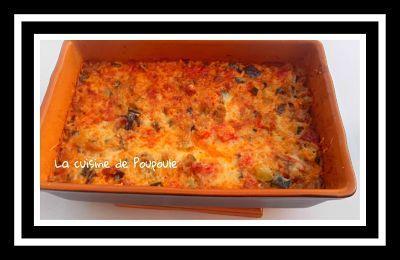 Gratin courgettes, aubergines, poivrons et chorizo au thermomix ou sans