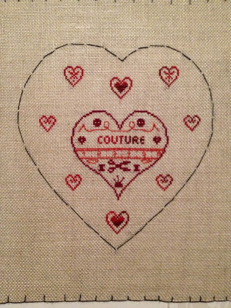 Petit coeur couture