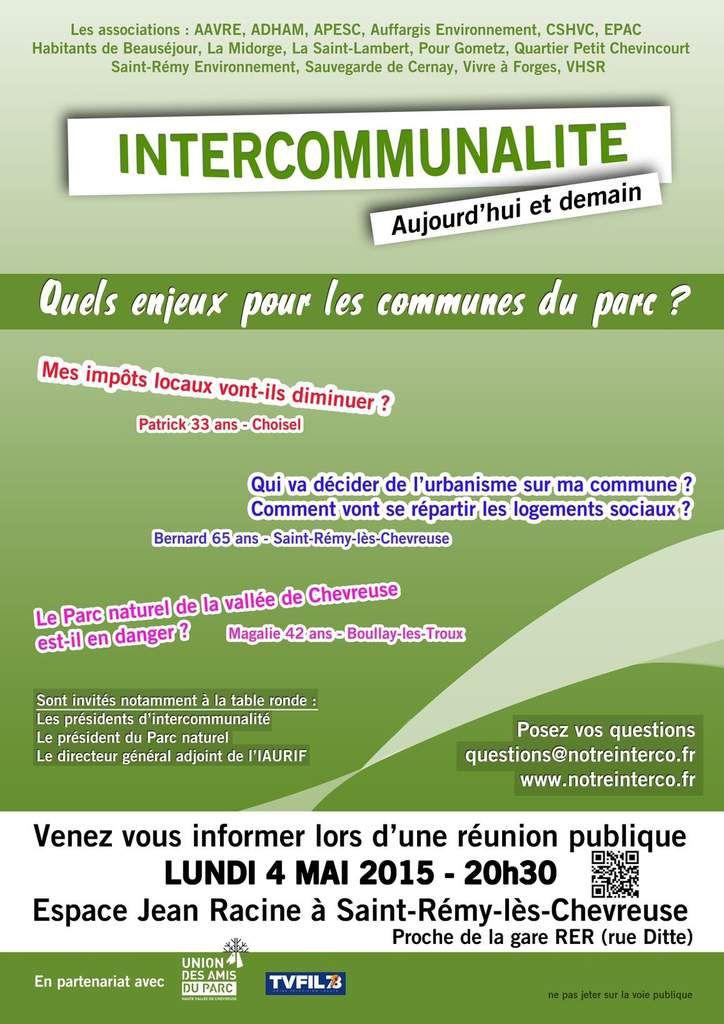 CCHVC - Communiqué du Comité Vallée de Chevreuse après la réunion publique du 4 mai à Saint Rémy
