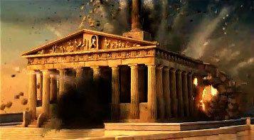 Christos Chryssopoulos, La Destruction du Parthénon – ruines et décombres