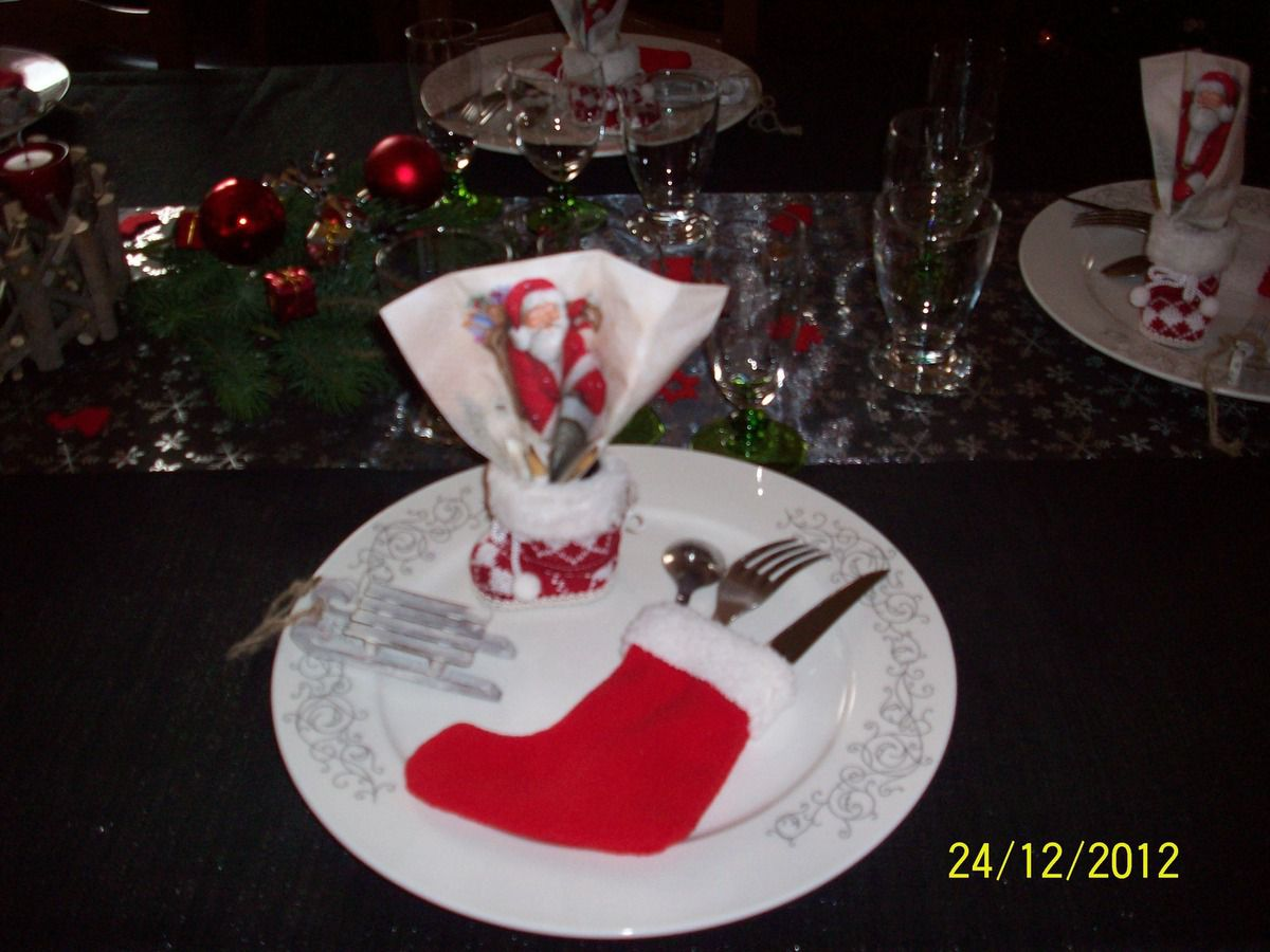 D coration de table de no l mes cr ations mon paradis - Creation decoration de noel ...