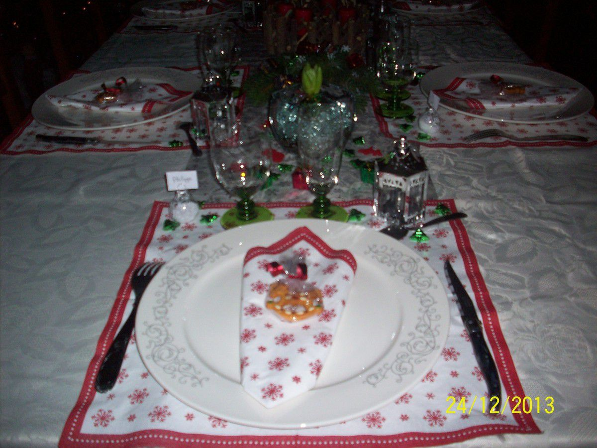 Décoration de table de Noël