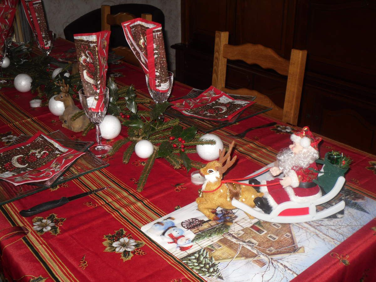 D coration table de no l mes cr ations mon paradis - Creation decoration de noel ...