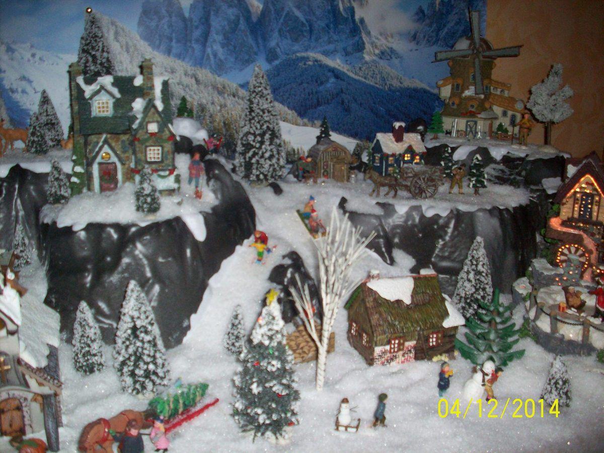 #2D4765 Village De Noël Mes Créations Mon Paradis 5595 idée de décoration de village de noel 1200x900 px @ aertt.com