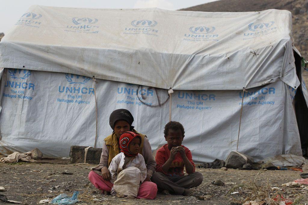 Rund 200 Familien leben im Flüchtlingslager Dharwan Quelle: UNHCR/Mohammed Hamoud