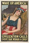 Wake up America! Civilization calls every man, woman and child! von James Montgomery Flagg 1917 Quelle: Libary of the Congress