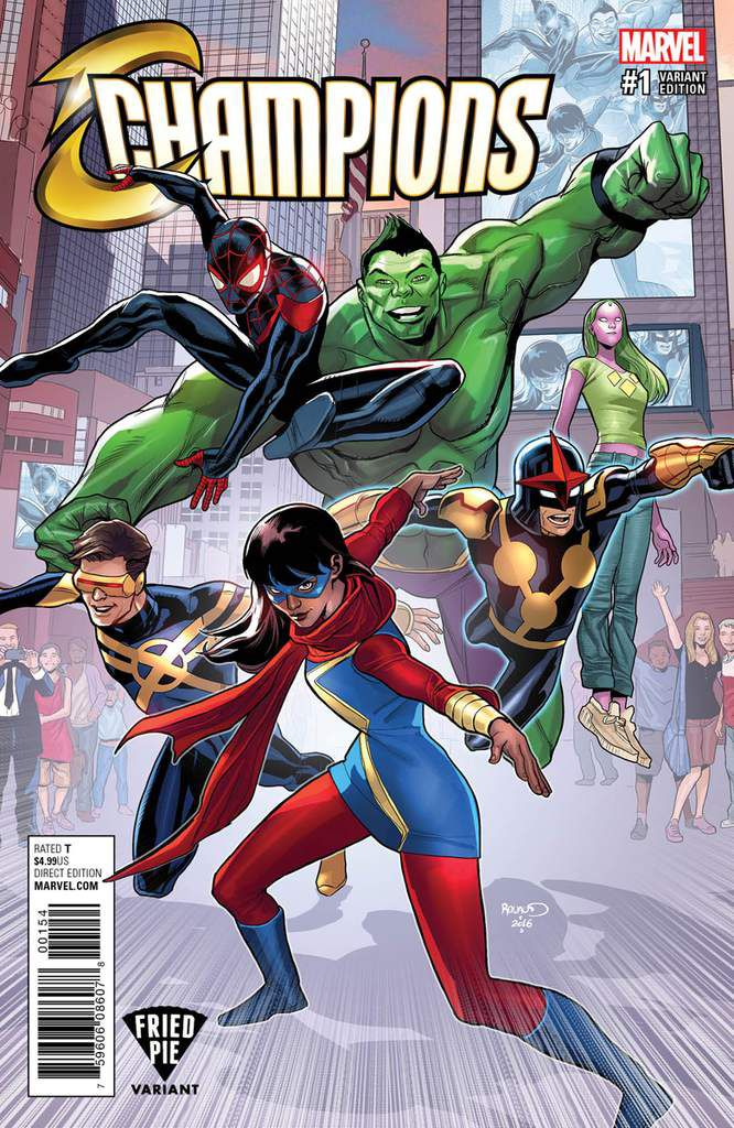 Couverture de Marvel : Champions !