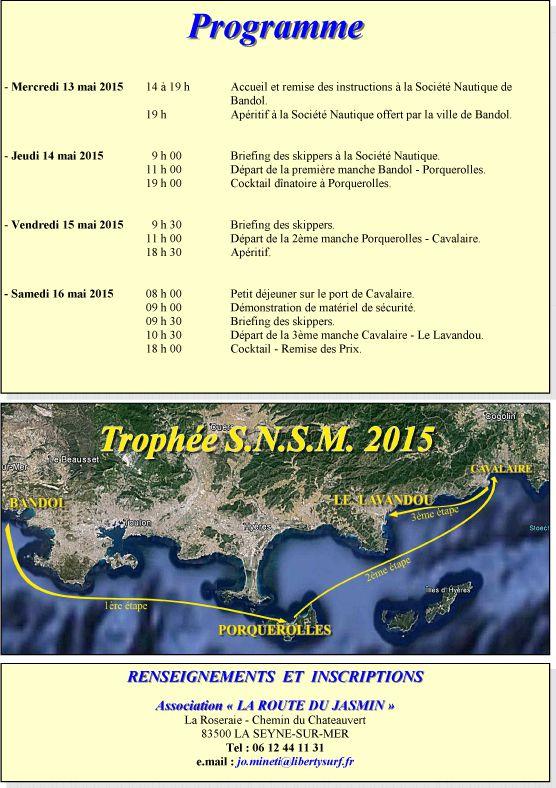 LA ROUTE DU JASMIN 2015 et le Trophée S.N.S.M.