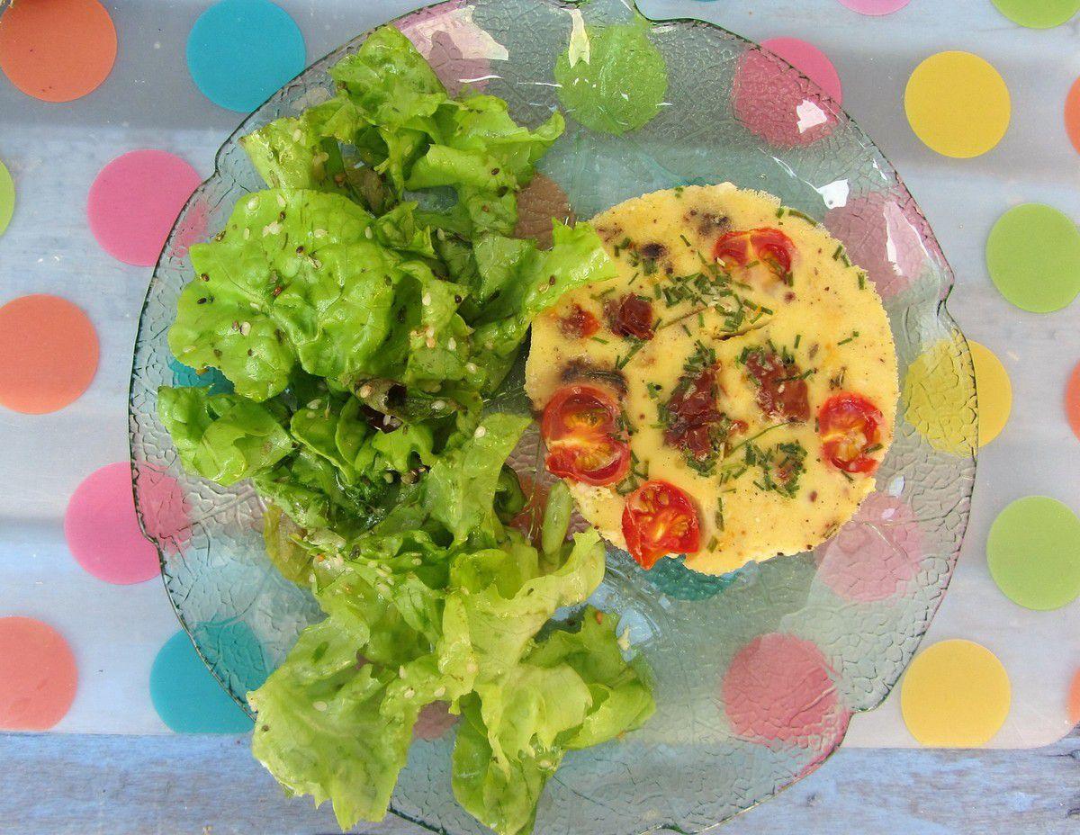 Petits clafoutis aux poivrons et tomates séchées