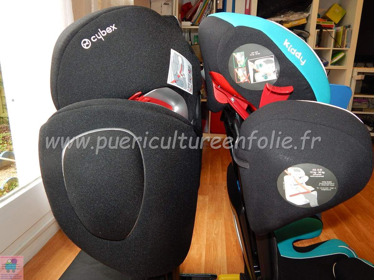 COMPARATIF CYBEX SOLUTION Q2 FIX vs KIDDY CRUISERFIX PRO