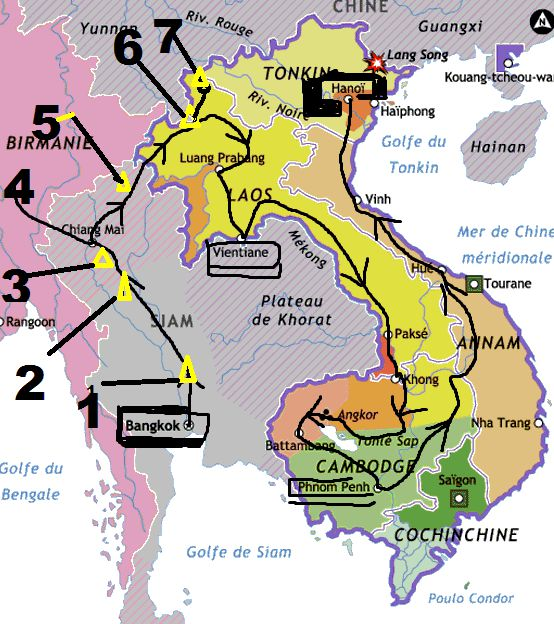 5-Chiang Rai ---6-Luang Nam Tha---7-Phongsaly