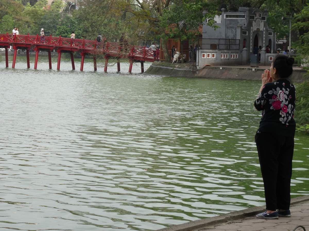 la prière au lac
