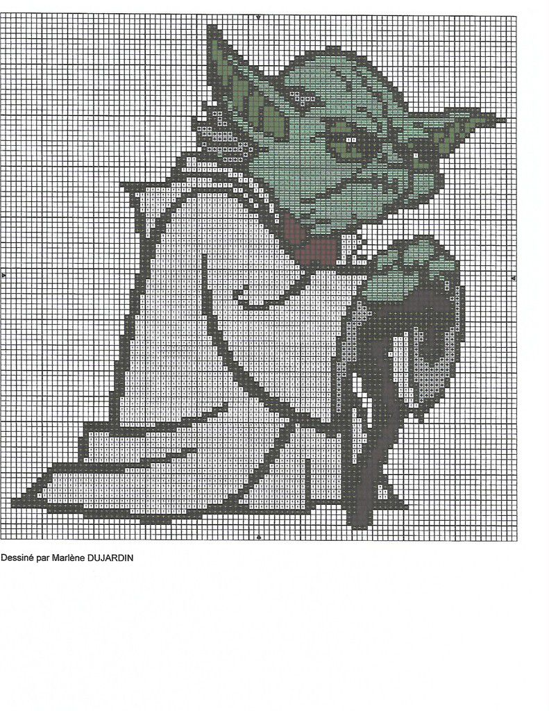 grille gratuite Star Wars : Yoda