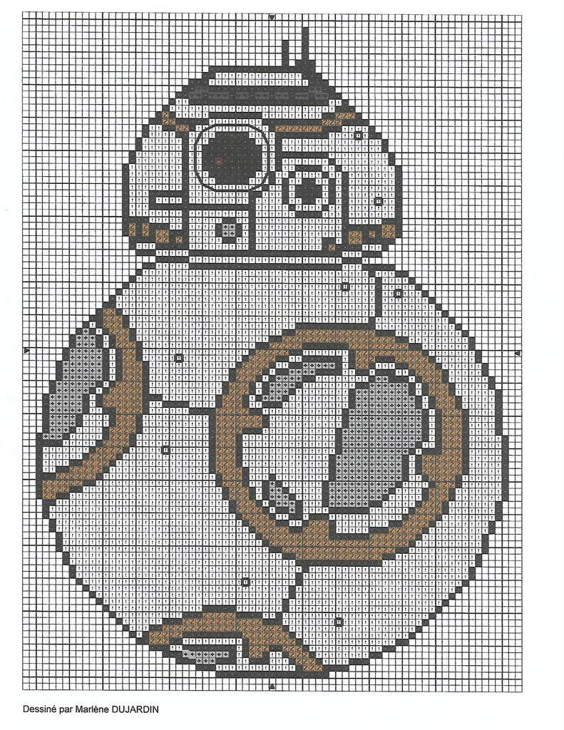Grille gratuite star wars bb8 le blog de marlenecreation - Blog point de croix grilles gratuites ...