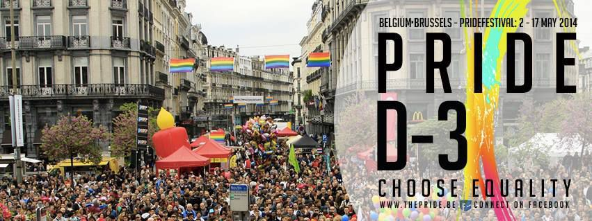 Brussels : choose equality with the Belgian Pride 2014