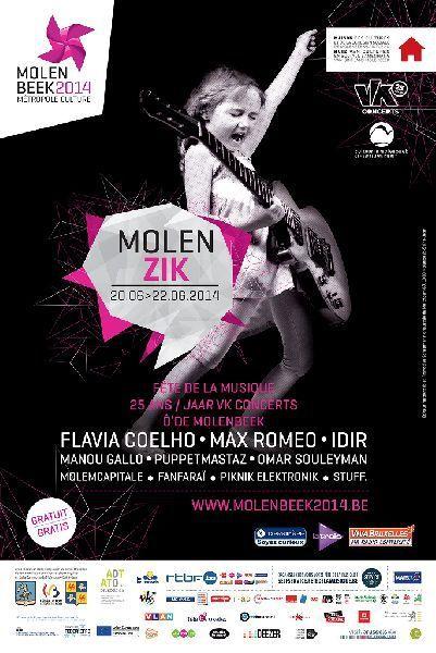 Sur les pavés, de la musique !  3 jours de fête pour célébrer Molenbeek et les 25 ans de vk concerts !