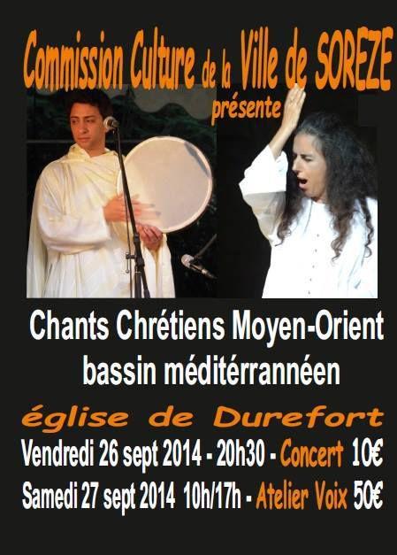 Chants chrétiens du Moyen-Orient et du Bassin Méditerranéen à Soreze