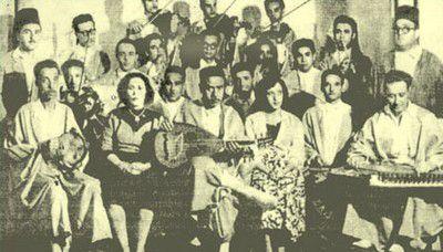 Troupe de la Rachidia avec Khemaïs Tarnane et Saliha