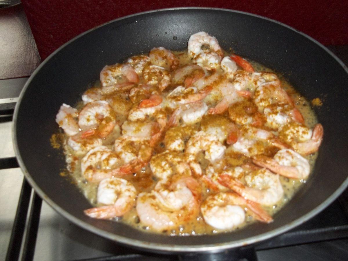 Cuisine : Recette Express : Crevettes au Curry